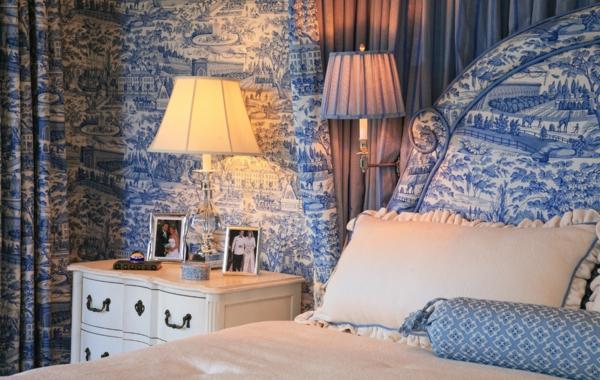 tapeten-farben-ideen-schlafzimmer-mit-blauen-tapeten