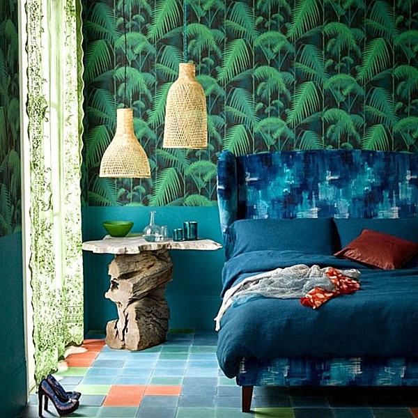 tapeten-farben-ideen-super-grüne-wand