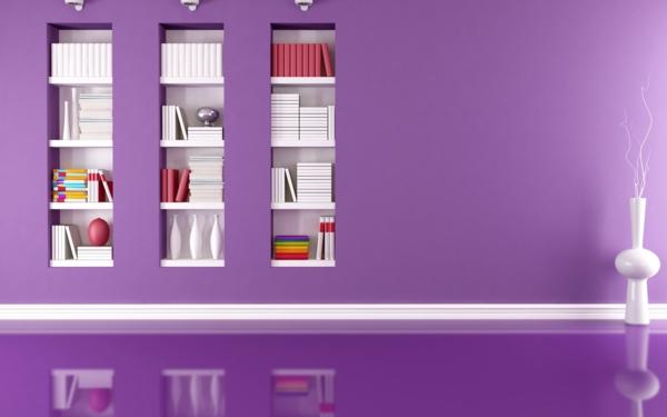 tapeten-farben-ideen-super-lila-wände