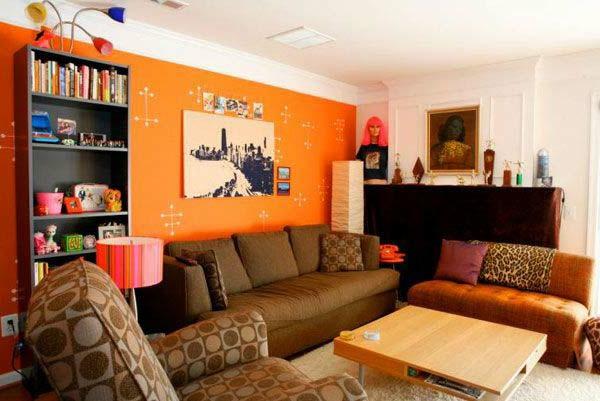 tapeten-farben-ideen-wohnzimmer-in-orange