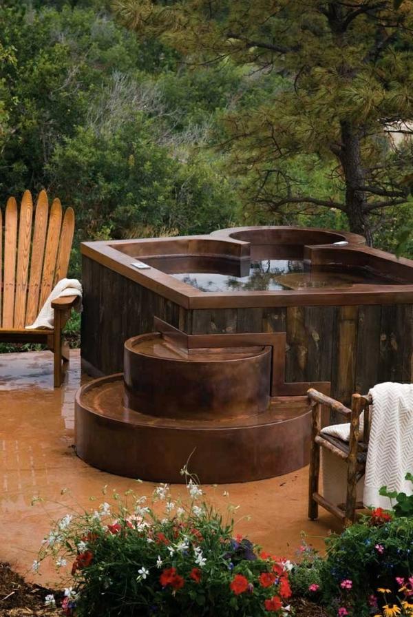 Whirlpool Im Garten - 100 Fantastische Modelle! - Archzine.net Whirlpool Garten Einbauen Ideen