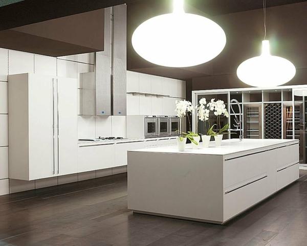 Kücheninsel lampe: rote barhocker bringen e anz zu jeder küche ...