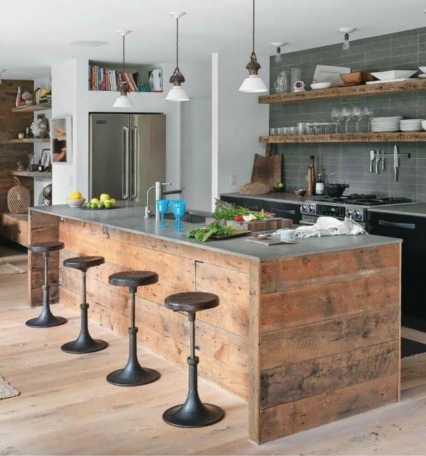 tolle-Küchengestaltung-moderne-Wohnung-Kücheninsel