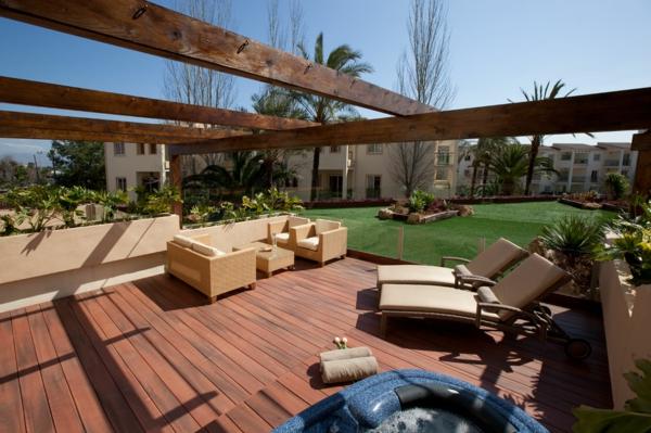 Schöne Terrasse Einrichten - 100 Tolle Ideen! - Archzine.net Terrasse Lounge Mobeln Einrichten