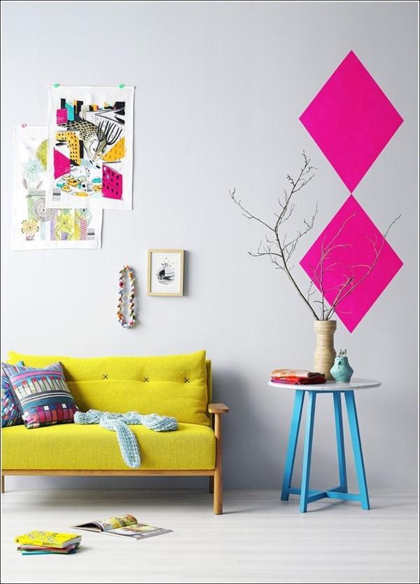 tolle-Wandgestaltung-mit-frischen-neon-Farben