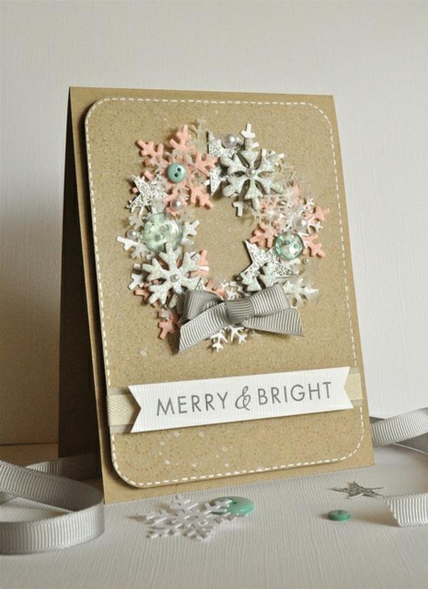 Tolle Karten Selber Basteln : Schöne Weihnachtskarten selber basteln  mehr als 100 Ideen!