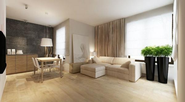 tolle-und-moderne-Eierschalenfarben-für-ein-schönes-Wohnzimmer-- Wandfarbe - Eierschalenfarben