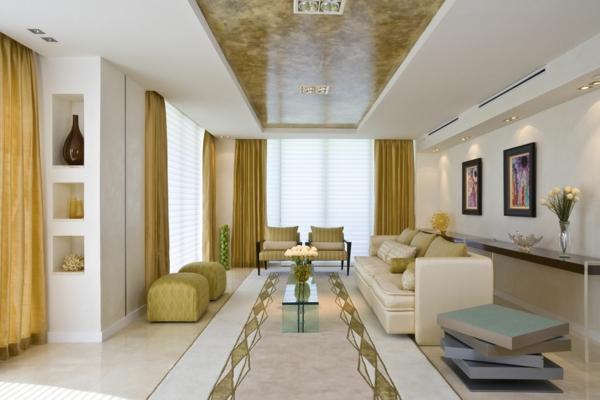 tolles-Design-für-das-Wohnzimmer-gelbe-Vorhänge