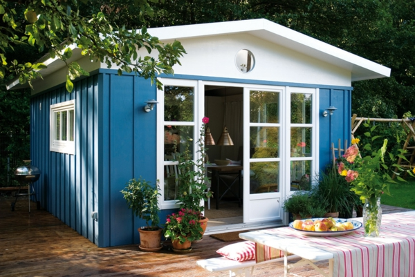 Gartenhaus taubenblau  Moderne Gartenhäuser - 50 Vorschläge für Sie! - Archzine.net