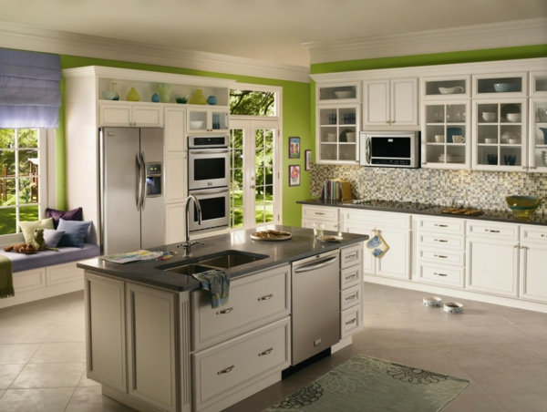 design idee grüne wände