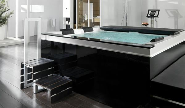 ultra- modernes-Badezimmer-mit-einer-Whirlwanne-