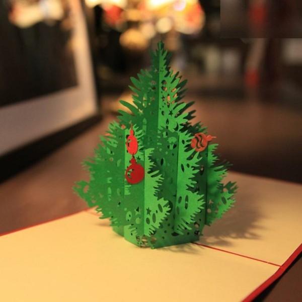 unikale-3d-weihnachtskarten-grüner-tannenbaum