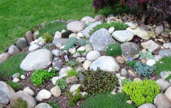 100 unglaubliche bilder moderner steingarten for Deko garten steine