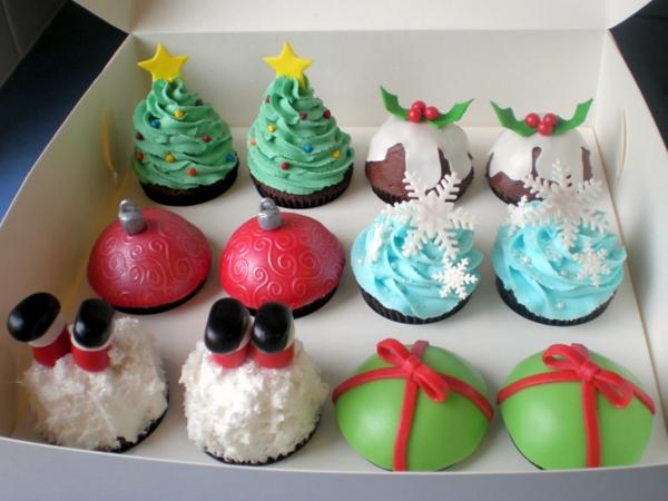 vielfältige-super-leckere-Cupcakes-für-Weihnachten