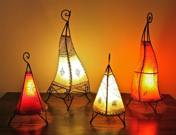vier-marokkanische-lampen