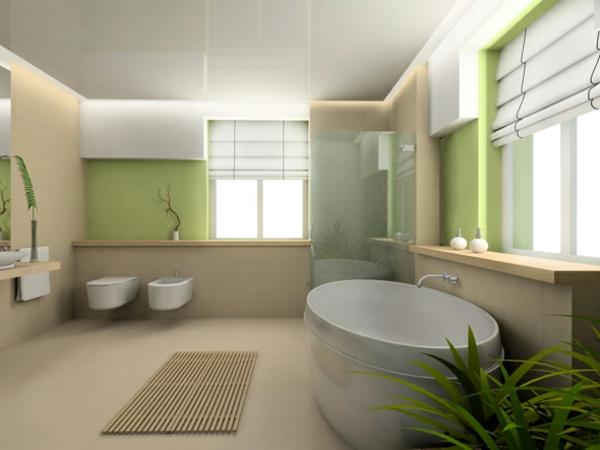 wandgestaltung-badezimmer-grün-super-tolle-Beispiele-für-moderne-und-praktische-Badezimmer