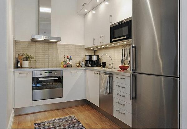 Kleine kuche im wohnzimmer