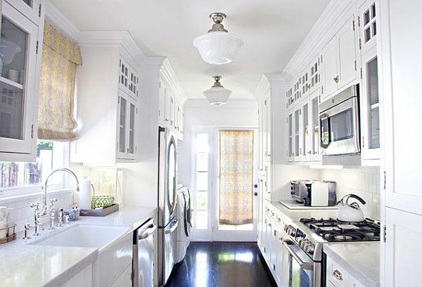 Küche kleine küche modern einrichten : Weiße kleine Küche einrichten: 30 Vorschläge! - Archzine.net