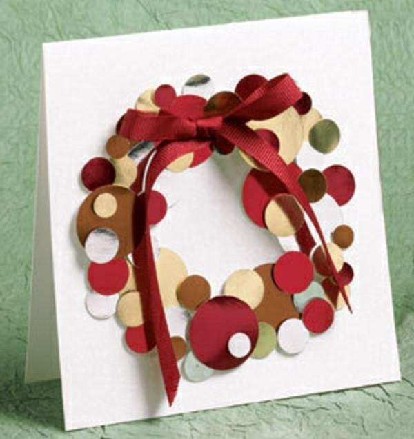 weihnachtsgeschenke-basteln-moderne-gestaltung-roter-kranz