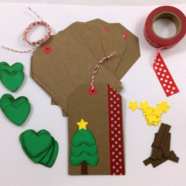 weihnachtskarten-basteln-originelle-gestaltung-mit-papier