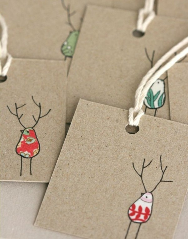 weihnachtskarten-ideen-interessante-gestaltung-tolles-basteln