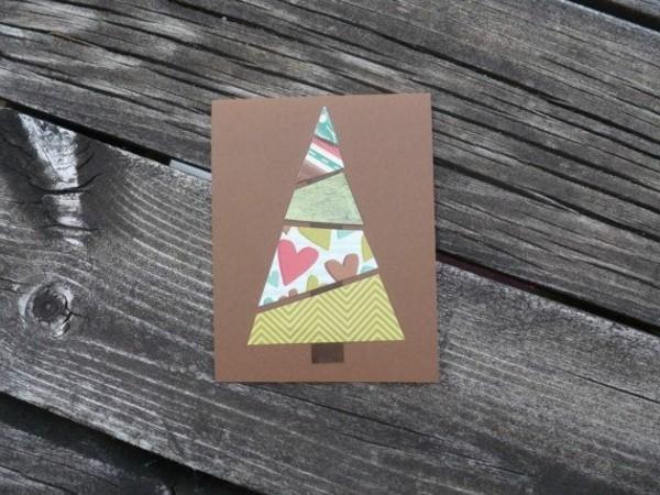 weihnachtskarten-schreiben-wunderschönes-modell-mit-einem-tannenbaum-aus-papier
