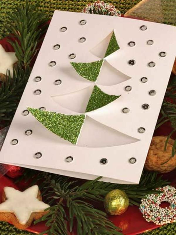 weihnachtskarten-selber-gestalten-interessanter-tannenbaum