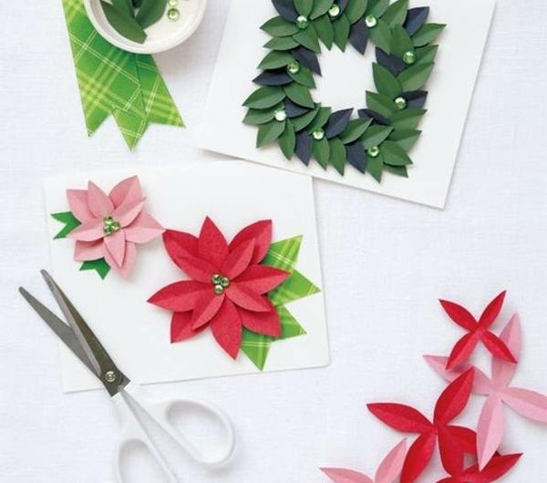 Sch ne weihnachtskarten selber basteln mehr als 100 ideen for Originelle weihnachtskarten