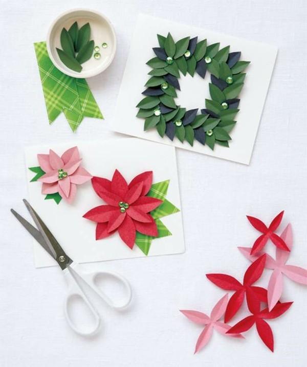 Originelle Weihnachtskarten.Schöne Weihnachtskarten Selber Basteln Mehr Als 100 Ideen