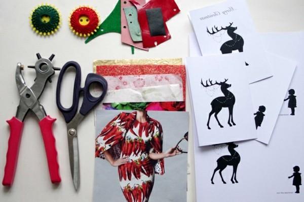 weihnachtskarten-selber-gestalten-verschiedene-ideen