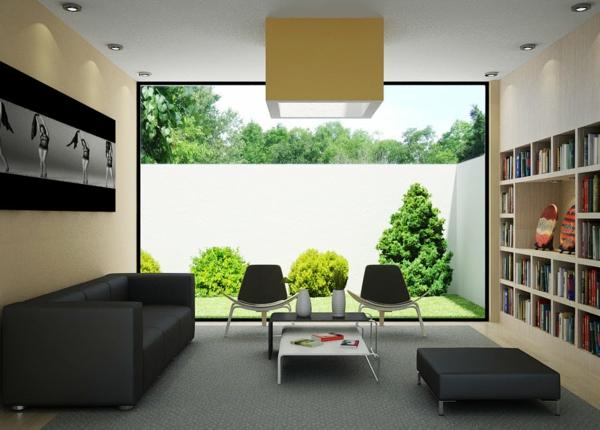 wohnzimmer-bücherregel-idee-Wohnzimmer-Einrichtung