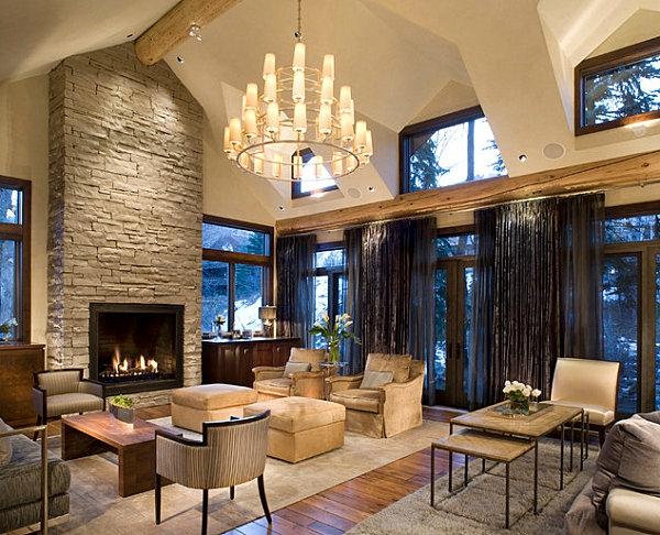 wohnzimmer rustikal modern. 25+ best ideas about steinwand ...