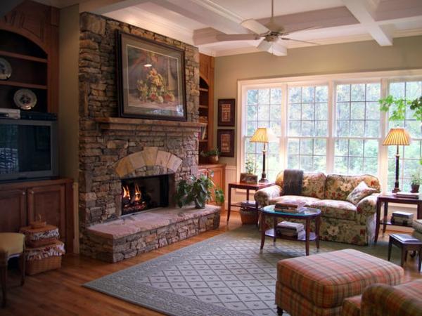 design : wandgestaltung wohnzimmer rustikal ~ inspirierende bilder ... - Wohnzimmer Rustikal Gestalten