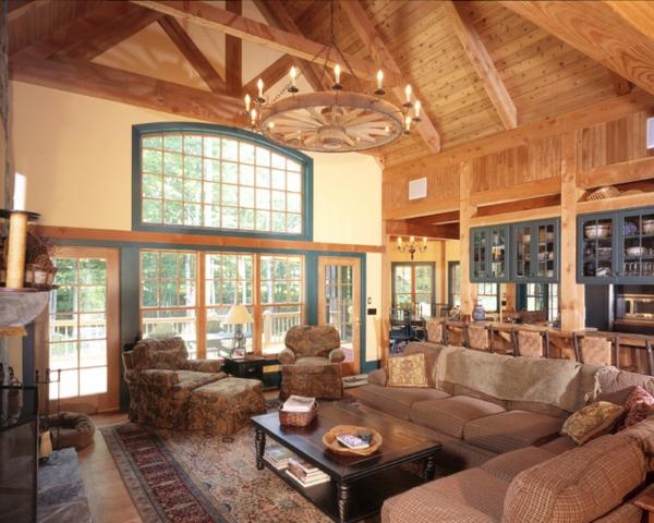 Rustikales wohnzimmer stunning mehr bilder von esstisch for Dekoration wohnung ausbildung