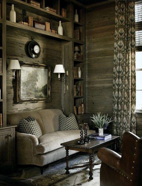 wohnzimmer rustikal gestalten teil 1. Black Bedroom Furniture Sets. Home Design Ideas