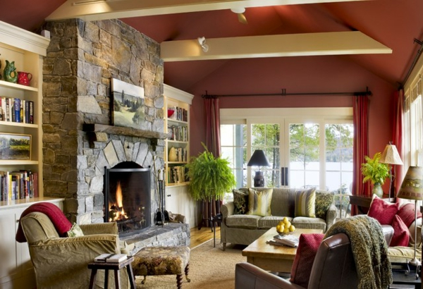 wohnzimmer-rustikal-gemütlcih-und-interessant-aussehen