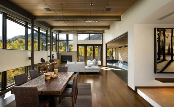 wohnzimmer rustikal:Wohnzimmer rustikal gestalten: Wände aus Stein