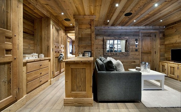 wohnzimmer rustikal:Wohnzimmer rustikal gestalten: viele hölzerne Elemente
