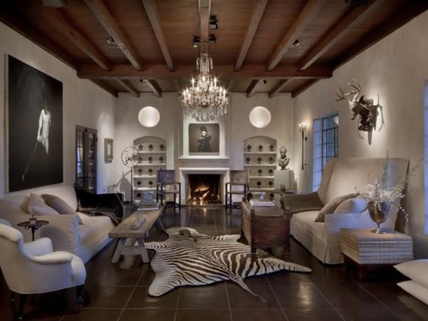 rustikales modernes wohnzimmer ~ raum haus mit interessanten ideen, Wohnzimmer dekoo
