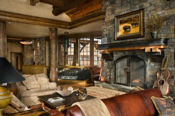 kamin rustikal mit sitzfl che raum und m beldesign inspiration. Black Bedroom Furniture Sets. Home Design Ideas