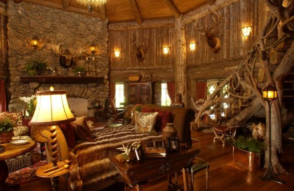 Wohnzimmer Gestalten In Rustikal ~ Kreative Bilder Für Zu Hause