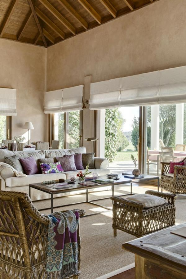 wohnzimmer-rustikal-schöne-weiße-farbe