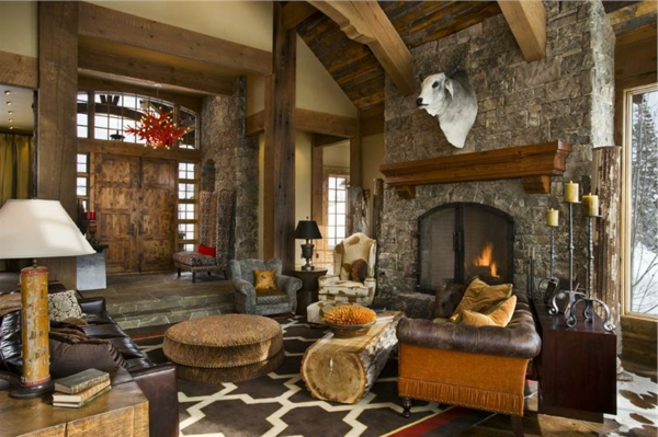 wohnzimmer rustikal gestalten teil 2. Black Bedroom Furniture Sets. Home Design Ideas