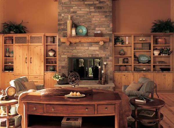 Wohnzimmer Rustikal Sehr Schick Aussehen