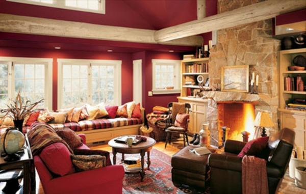 wohnzimmer rustikal:wohnzimmer-rustikal-super-gemütlich-erscheinen