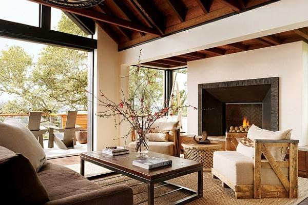 Design Wohnzimmer Rustikal Einrichten Inspirierende Bilder Von