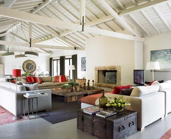 Wohnzimmer rustikal gestalten teil 2 - Casas rusticas decoracion ...