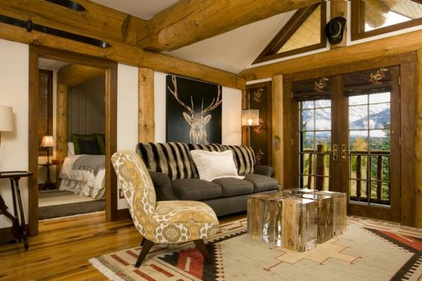 kleines wohnzimmer rustikal gestalten ~ surfinser.com