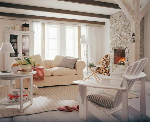 wohnzimmer rustikal gestalten teil 1