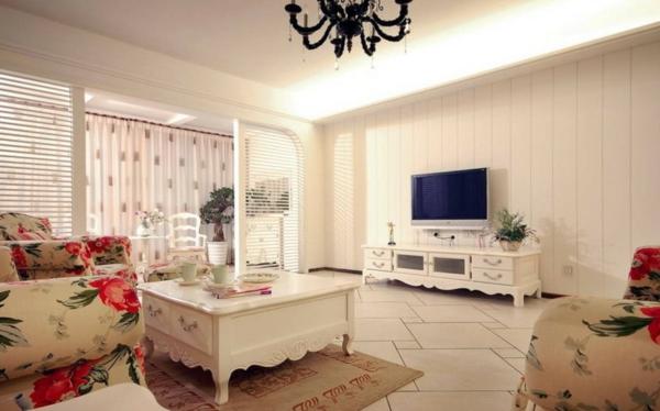 wohnzimmer-rustikal-weiße-gestaltung-sehr-schön